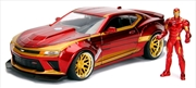 Iron Man - 2016 Chevy Camero SS Hollywood Rides 1:24 Scale Diecast Vehicle | Merchandise