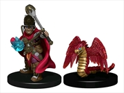 Wardlings - Boy Cleric & Winged Snake Pre-Painted Minis