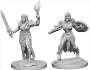 Pathfinder - Deep Cuts Unpainted Miniatures: Elf Female Fighter #1