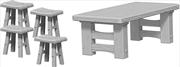 Wizkids - Deep Cuts Unpainted Miniatures: Wooden Table & Stools   Games