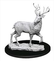 Wizkids - Deep Cuts Unpainted Miniatures: Stag   Games