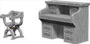 WizKids - Deep Cuts Unpainted Miniatures: Desk & Chair