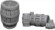 WizKids - Deep Cuts Unpainted Miniatures: Barrel & Pile of Barrels