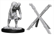 Wizkids - Deep Cuts Unpainted Miniatures: Assistant & Torture Cross