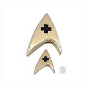 Star Trek: Discovery - Enterprise Medical Badge & Pin Set