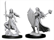 Dungeons & Dragons - Nolzur's Marvelous Unpainted Minis: Unpainted Female Elf Paladin | Games