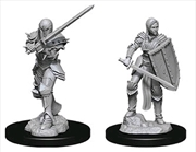 Dungeons & Dragons - Nolzur's Marvelous Unpainted Minis: Unpainted Female Human Fighter