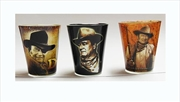 John Wayne 3 Pce Shot Glasses