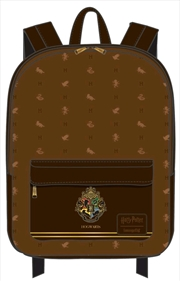 Harry Potter - Hogwarts Logo Brown Backpack