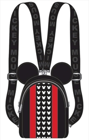 Mickey Mouse - Red Stripe & Ears Backpack