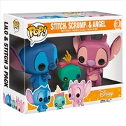 Lilo & Stitch - Stitch, Scrump & Angel US Exclusive Pop! Vinyl 3-Pack | Pop Vinyl