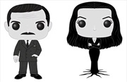 Addams Family - Morticia and Gomez Black & White US Exclusive Pop! Vinyl 2-pack [RS]