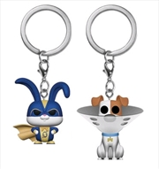 Secret Life of Pets 2 - Max & Snowball US Exclusive Pocket Pop! Keychain 2-pack [RS]