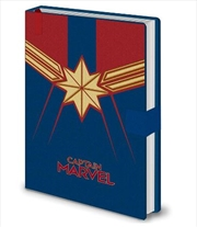 Captain Marvel - Emblem  A5 Notebook