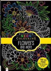 Neon Colouring: Flowers And More | Hardback Book