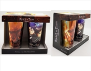 JUST FUNKY Attack on Titan - Pint Glass, set of 2