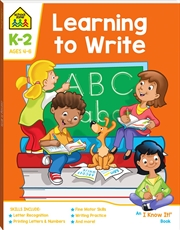 School Zone Learning to Write I Know It Book | Hardback Book