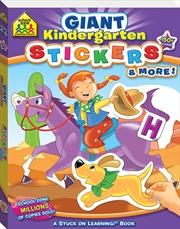 School Zone Giant Kindergarten Stickers and More! | Paperback Book