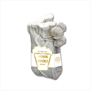 Grey Cable Knot Movie Socks