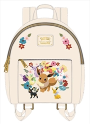 Pokemon - Eevee Family and flowers Mini Backpack