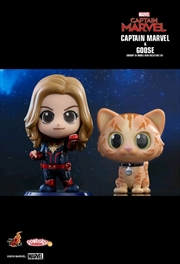 Captain Marvel - Captain Marvel & Goose Cosbaby Set