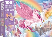 100-Piece Children's Sparkly Jigsaw: Unicorn Kingdom