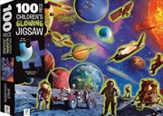 100-Piece Children's Glowing Jigsaw: Space AdventureAGE