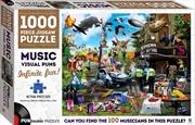 Puntastic Puzzles: Music 1000-piece Puzzle | Merchandise