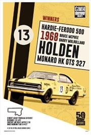 Holden - 1968 Bathurst Winner Poster | Merchandise