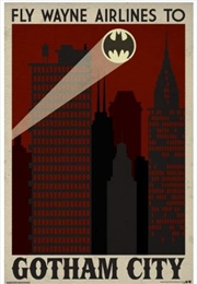 DC Comics - Gotham Travel Poster