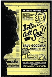 Breaking Bad - Better Call Saul! Poster | Merchandise