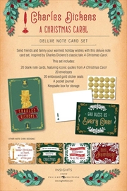 Charles Dickens : A Christmas Carol Deluxe Note Card Set With Keepsake Book Box