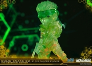 """Metal Gear Solid - Solid Snake Stealth Green 8"""" PVC Statue"""