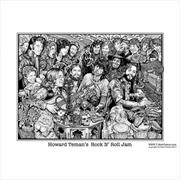 Howard Teman Rock and Roll Jam poster | Merchandise