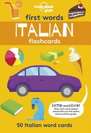 First Word Flashcards Italian
