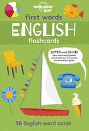 First Word Flashcards English