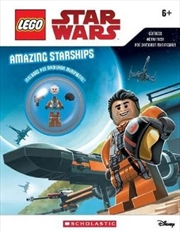 LEGO Star Wars: Amazing Starships with Minifigure | Paperback Book