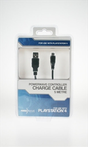 Powerwave PS4 5M Controller Charge Cable | PlayStation 4