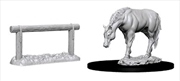 Wizkids - Deep Cuts Unpainted Miniatures: Horse & Hitch | Games