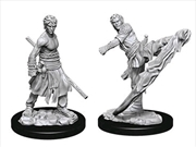 Dungeons & Dragons - Nolzur's Marvelous Unpainted Minis: Male Half-Elf Monk | Games