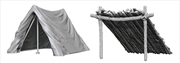 Wizkids - Deep Cuts Unpainted Miniatures: Tent & Lean-To | Games