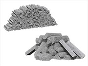 Wizkids - Deep Cuts Unpainted Miniatures: Piles of Wood | Games