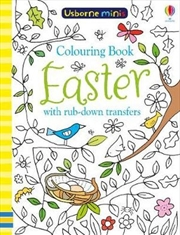 Mini Books Colouring Book Easter with Rub Downs