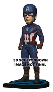 Avengers 4: Endgame - Captain America Head Knocker | Merchandise