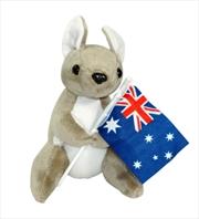 16cm Kangaroo W/ Flag