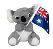13cm Koala W/Flag