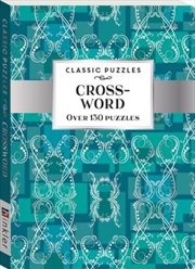 Classic Puzzles: Crossword Teal Wallpaper (pack 1) | Paperback Book