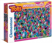 Clementoni Puzzle Trolls Impossible Puzzle 1000 Pieces