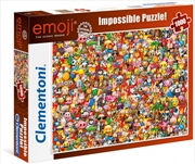 Clementoni Puzzle Emoji Impossible Puzzle 1000 Pieces | Merchandise