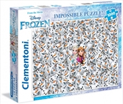 Clementoni Disney Puzzle Frozen Impossible Puzzle 1000 Pieces | Merchandise